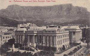Parliament House & Table Mountain, Cape Town, South Africa, PU-1910