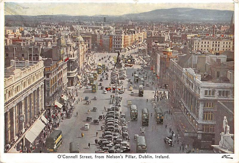 O'Connell Street, from Nelson's Pillar Dublin Vintage Cars Busses
