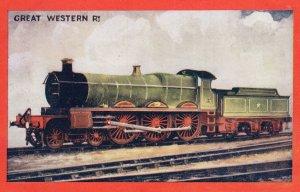 Great Western Railway 4-6-0 Train Wrench Series Vintage Postcard