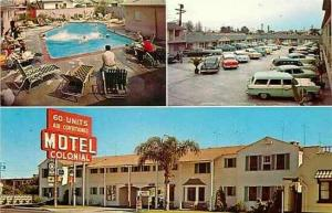 CA, Long Beach, California, Colonial Motel, Reed White 61127