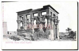 Postcard Ancient Egypt Egyptian temple phylae Hypetre