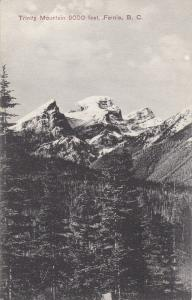 FERNIE, British Columbia, Canada, 1900-1910s; Trinity Mountain 9000 Feet