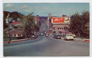 Water Street Cars Harvard Beer Sign Augusta Maine 1956 postcard