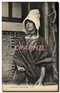 Old Postcard Norman Costume Folklore