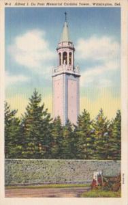 Delaware Wilmington Alfred I Du Pont Memorial Carillon Tower 1941 Curteich