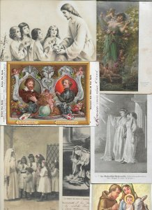 Religion Angels People Pray and more with RPPC Postcard Lot of 20 01.16