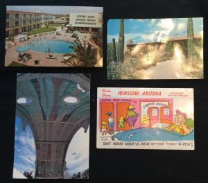 Postcards (4) Arizona Tucson Winslow Arcosanti LB