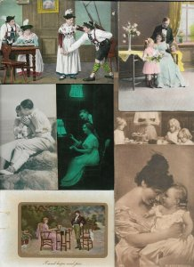 Lot of Victorian Style Romantic Woman And People Theme Postcards of 20   01.16