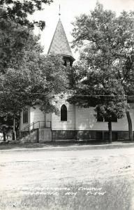 Red Granite Wisconsin~Congregational Church in Trees~Gravel Road~1950s RPPC