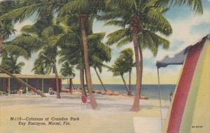 Florida Miami Cabanas At Crandon Park Key Biscayne 1958 Curteich