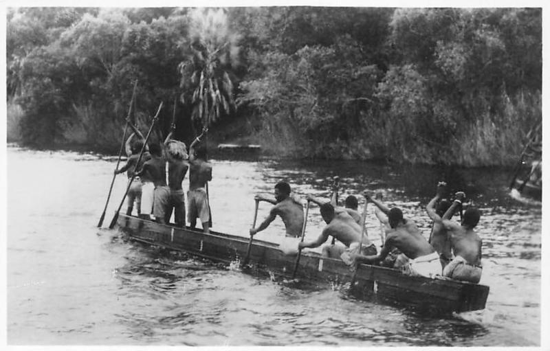 Zimbabwe Native Canoe on Zambezi River, Victoria Falls