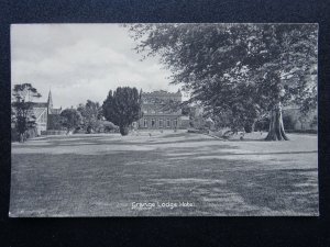 Guernsey GRANGE LODGE HOTEL view from Gardens BOOKING CONFIRMATION Old Postcard