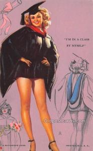 I'm in a Class by Myself 1945 Mutoscope Artist Pin Up Girl, Non Postcard Back...