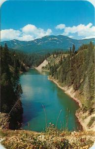 b/w Noxon, MT & Clarkfork, Idaho, ID, Blue Lake on Hwy. 10A, Old Postcard c9284