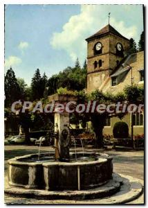 Postcard Modern Samoens The Church and Fountain Vieile