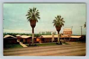 Riverside CA-California, El Camino Motel, Chrome Postcard