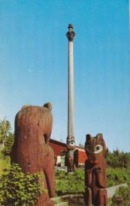 Alaska Ketchikan Abraham Lincoln Totem Pole Saxman Park