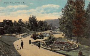 E92/ Newell West Virginia Postcard Newell Park 1911 Fountain 3