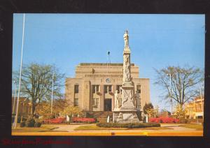 JASPER ALABAMA WALKER COUNTY COURT HOUSE CONFEDERATE MONUMENT POSTCARD