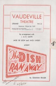 The Dish Ran Away Comedy Vaudeville London Theatre Programme & Flyer