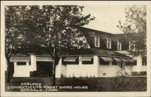 Norwalk CT Dorlons Conn's Finest Shore House Real Photo Postcard jrf
