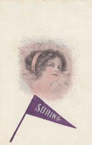 Female Head Portrait & Suring Penant, 1912