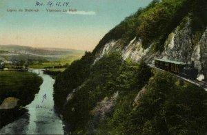 luxemburg, Ligne de Diekirch - Vianden La Hellt, Steam Train (1924) Postcard
