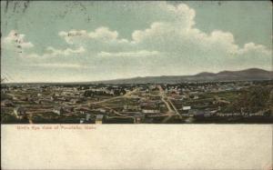 Pocatello ID Birdseye View c1905 Postcard