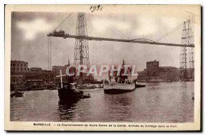 Old Postcard Marseille Coronation of Our Lady of the station Arrival of the C...
