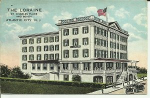 Atlantic City, N.J. The Loraine St. Charles Place And Beach