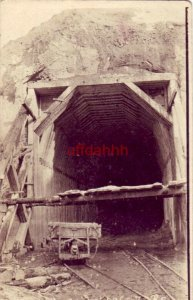 TUNNEL MILE 106 - 7 B. C. CANADA? BRITISH COLUMBIA TUNNEL BEING BUILT