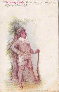 The Young Hunter, Boy With A Rifle, PU-1908