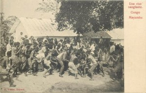 Belgian Congo Mayumbe une rixe sanglante natives bloody brawl ethnics fight