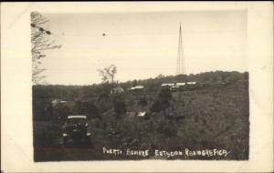 Puerto Aguirre Chile - Radio Tower Radiografica Estacion Real Photo Postcard