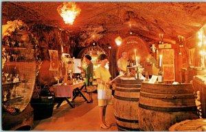Buena Vista Winery Sonoma California Underground Tunnel Postcard