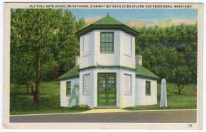 Old Toll Gate House On National Highway Between Cumberland & Frostburg, Maryland