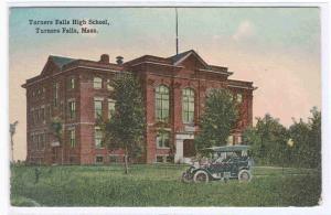 Turner Falls High School Car Massachusetts 1910c postcard