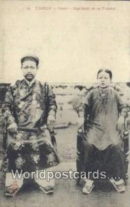 Vietnam, Viet Nam,  Nhân Vật Tonkin Hanoi, Mandarin et sa Femme