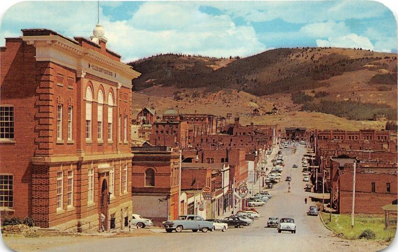 Cripple Creek Colorado~Bennett Avenue~Storefronts~50s Cars~Texaco~Courthouse~Pc
