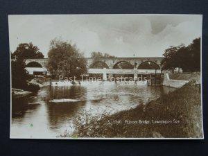 Warwickshire LEAMINGTON SPA Princes Bridge & Weir - Old RP Postcard by Kingsway