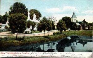 Postcard LA New Orleans Metairie Cemetery - St. Anns Ontario Cancel 1906 J3