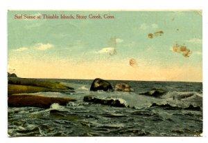 CT - Stony Creek. Thimble Islands Surf