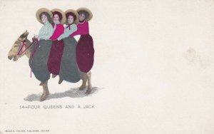 Four Queens and a Jack, Donkey, 1900-10s