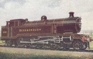 LB & SC Bessborough Class 4-6-2T J Train Painting Postcard
