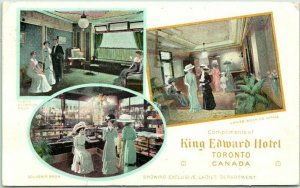 TORONTO, Ontario Canada Postcard KING EDWARD HOTEL Multi-View / 1912 Cancel