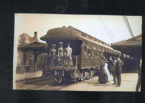REAL PHOTO ST. PAUL NEBRASKA RAILROAD DEPOT TRAIN STATION POSTCARD NEBR COPY