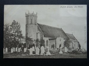 Norfolk Broads ACLE CHURCH c1905 Postcard by The Wrench Series 9686