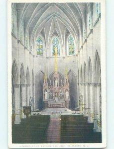 W-border CHURCH SCENE Elizabeth New Jersey NJ AD1224