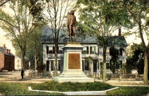 Massachusetts Amesbury Josiah Bartlett Statue Signer Of The Declaration Of In...
