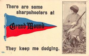 Some Sharpshooters at Grand Mound Iowa~Keep Me Dodging~Lady With Gun~1914 PC